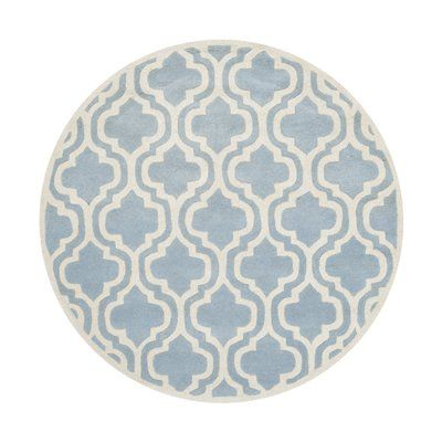 Safavieh CHT727B Chatham Blue and Ivory Area Rug