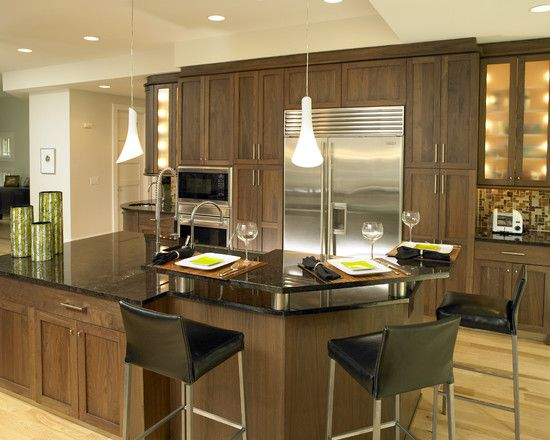 Walnut Cabinets Design Ideas Pictures Remodel And Decor Contemporary Kitchen Kitchen Cabinet Interior Walnut Kitchen Cabinets