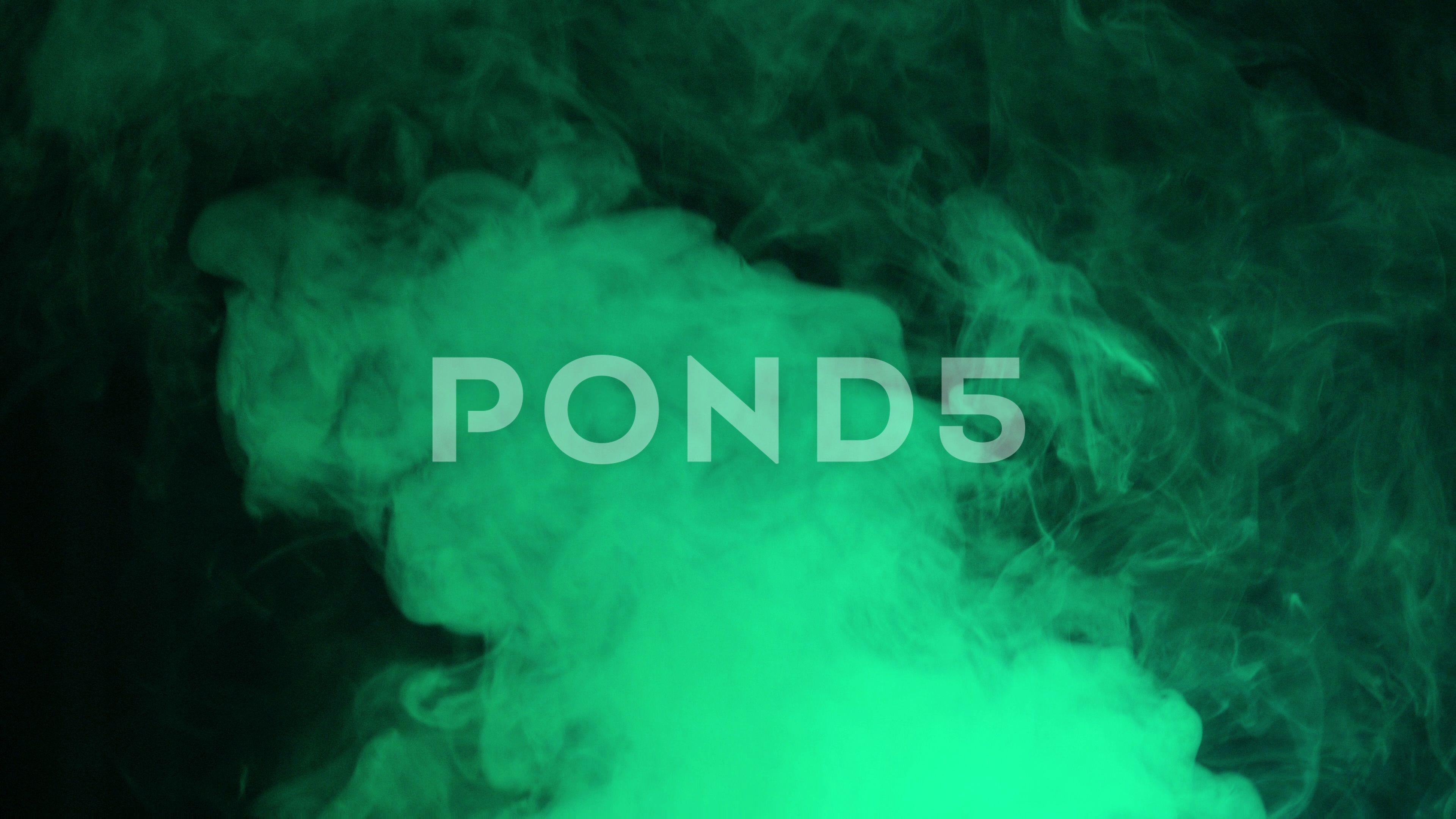 Green Puff Of Smoke Toxic Gas Background Cine 4k Ultra Hd Stock