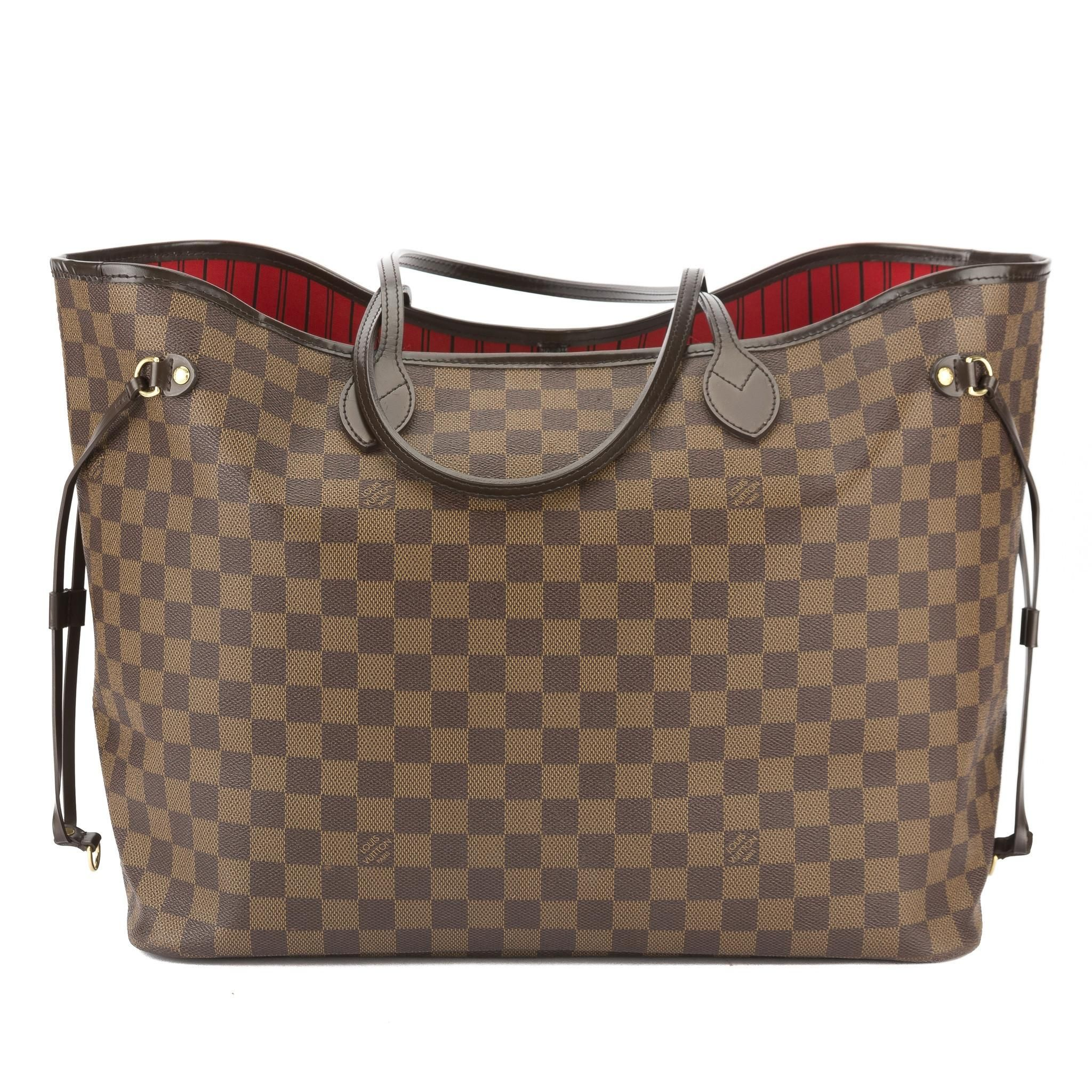 64ffaa29e55c4 Louis Vuitton Damier Ebene Neverfull Gm Bag. Get one of the hottest styles  of the