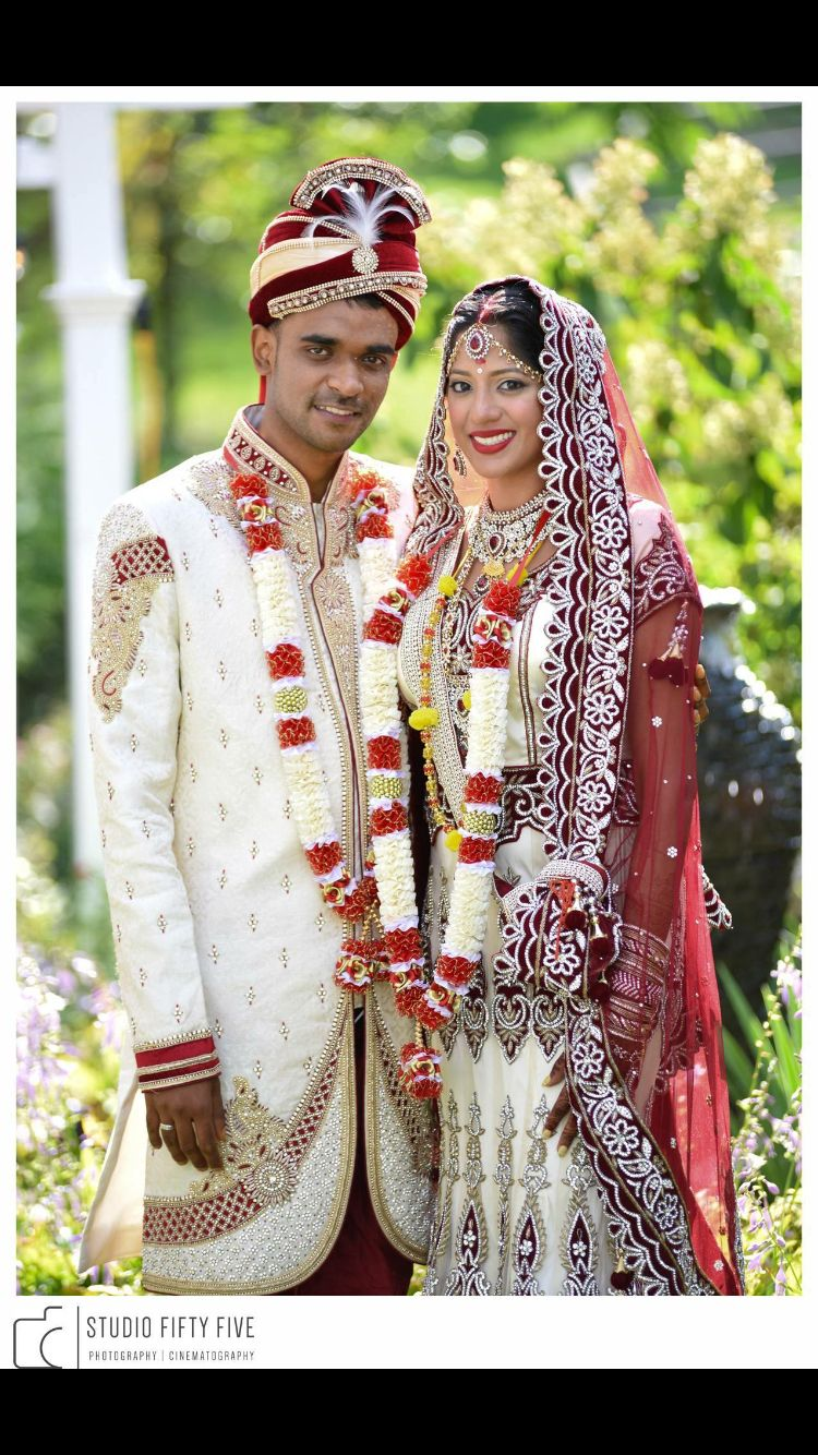 Bride and groom Indian style