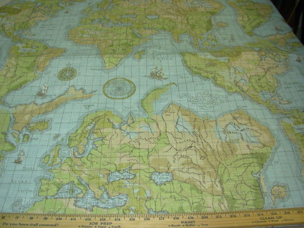 Btywaverlybuon viaggio old world mapcotton upholstery fabric btywaverlybuon viaggio old world mapcotton upholstery fabric gumiabroncs Choice Image