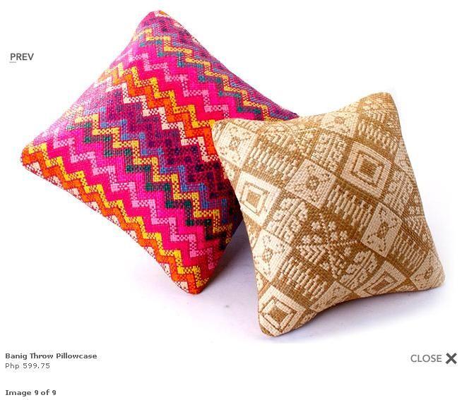 "This Brown ""banig"" (handwoven Mat) Throw Pillowcase (Php"