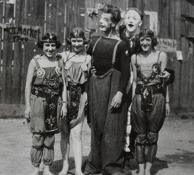 1930s MEN and WOMEN of CIRCUS in makeup and costume vintage photo by Christian Montone, via Flickr