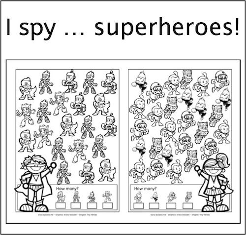 Here Is Another I Spy Freebie Children Simply Love Them This Time It Is About I Spy Superhero Superhero Superhero Classroom Theme Super Hero Activities