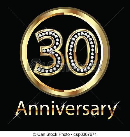 30th Wedding Anniversary Clip Art Stock Clip Art Icon Stock