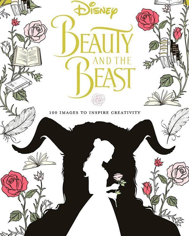 Portada de un libro para colorear de La Bella y la Bestia (2017 ...