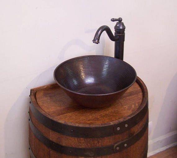 Whiskey Barrel Vanity Sink 18\