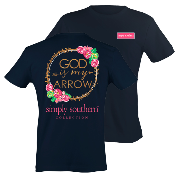 Simply Southern God is My Arrow Tee