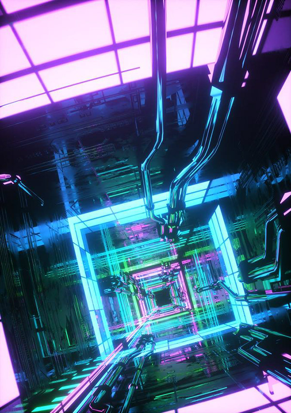Daily Feb 2018 On Behance In 2020 Blue Square Virtual Reality Digital Artists