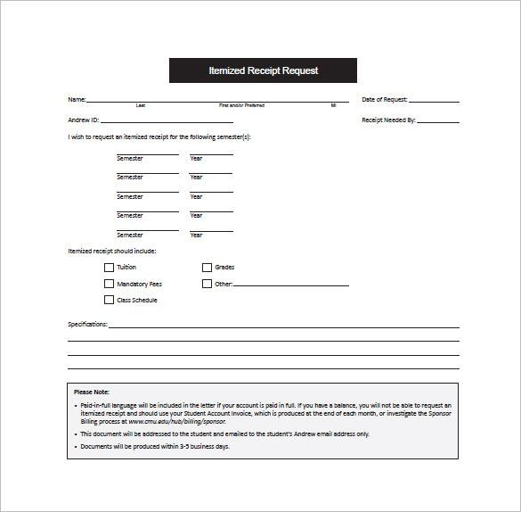 free itemized invoice template