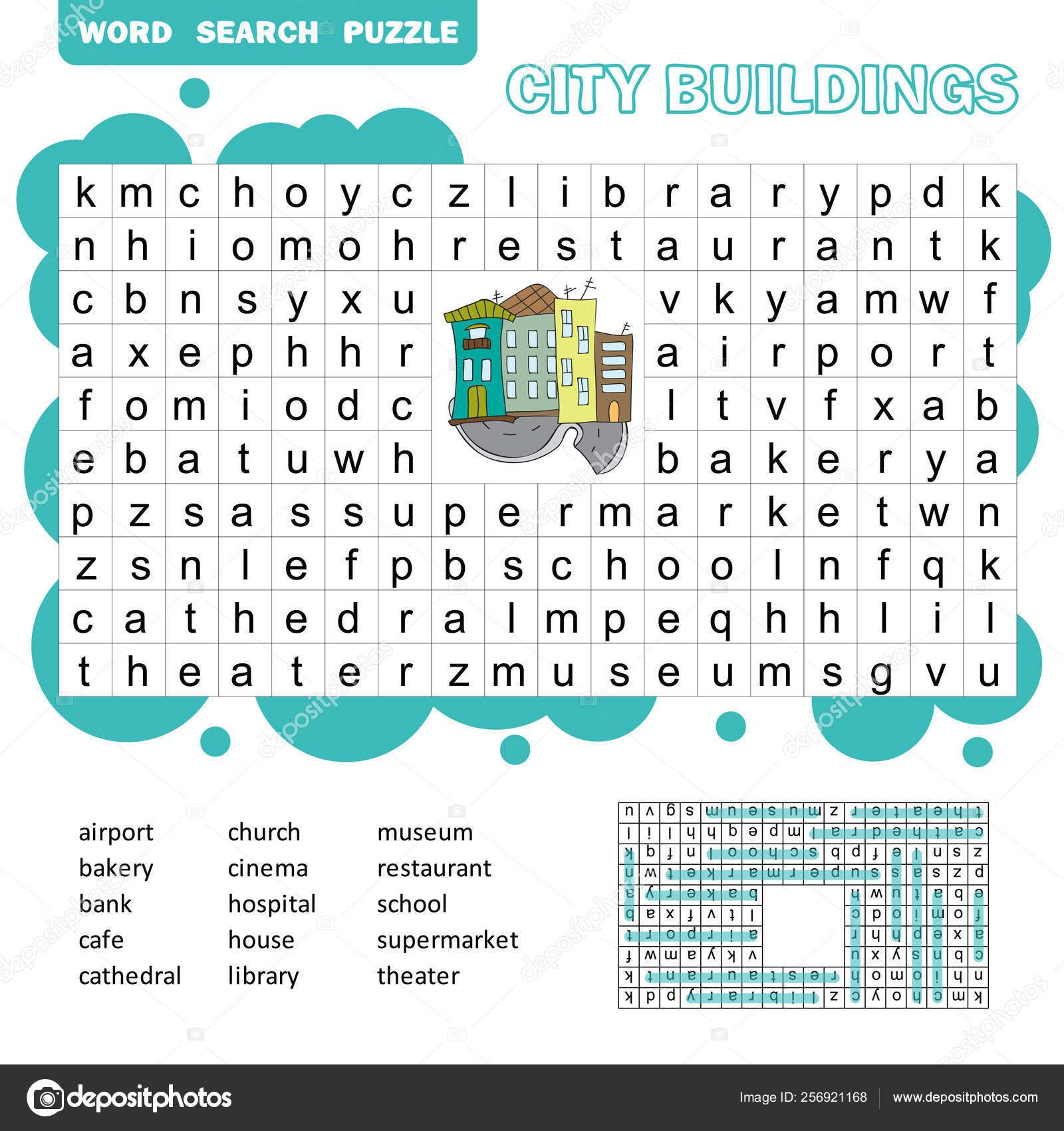 5 Fun Kids Worksheets Search Word Puzzle In