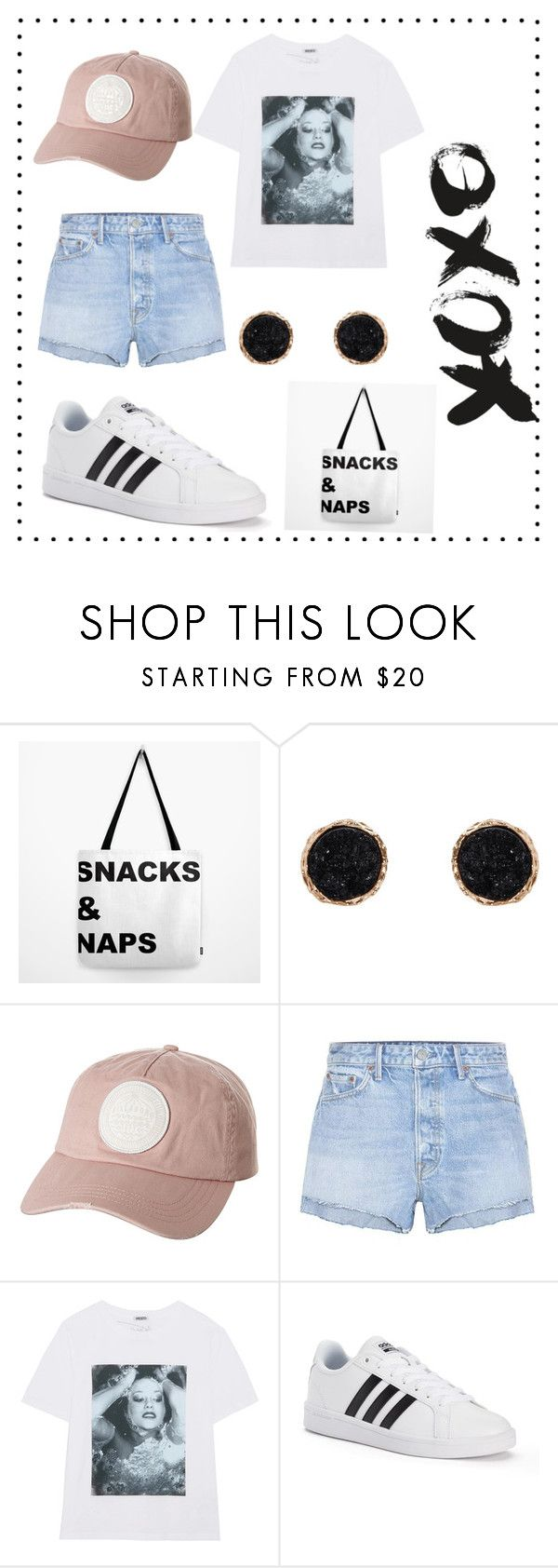 """Casual"" by julia-janes-1 ❤ liked on Polyvore featuring Humble Chic, Billabong, GRLFRND, Kenzo and adidas"