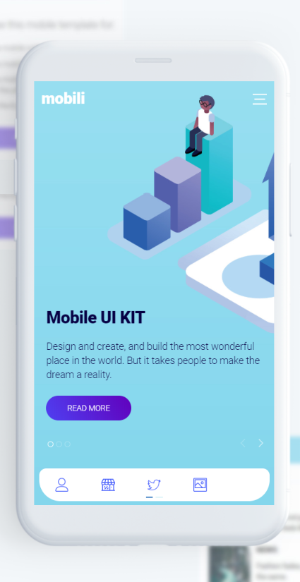 Mobili Is A Responsive Html Mobile Template Created For Mobile Websites Web Apps And Integrated With Solutions Lik Mobile Template App Development Design App