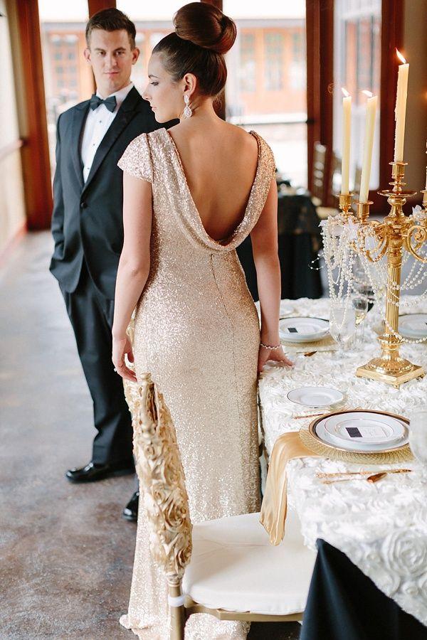 Glamorous New Year S Eve Wedding Inspiration New Years Eve Weddings Non White Wedding Dresses Creative Wedding Inspiration