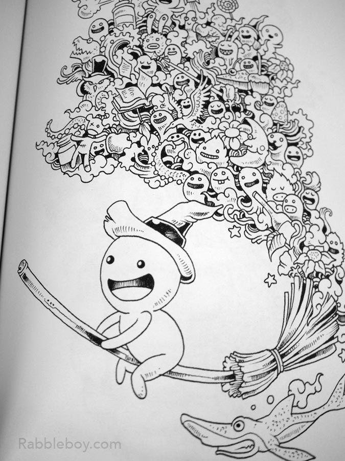 Doodle Invasion A Crazy Coloring Book By Kerby Rosanes Rabbleboy P1100212
