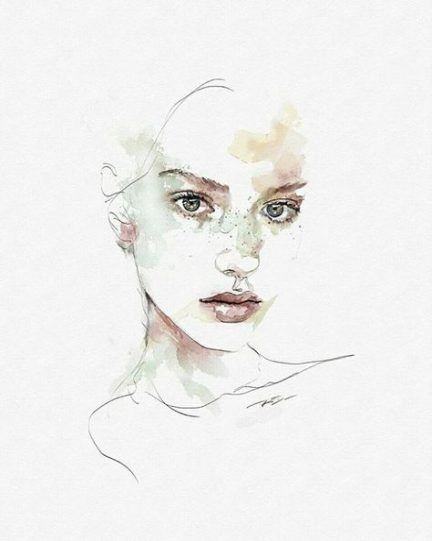 New Painting Abstract Portrait Watercolour Ideas Painting