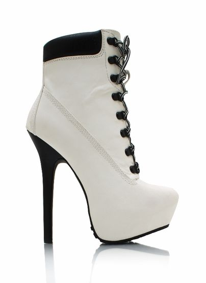 Mujer Zapatos Sintéticos Otoño / Invierno Tacón Stiletto 5.08-10.16 cm / Botines / Hasta el Tobillo Beige / Marrón / Rojo / Fiesta y Noche 7YP6J