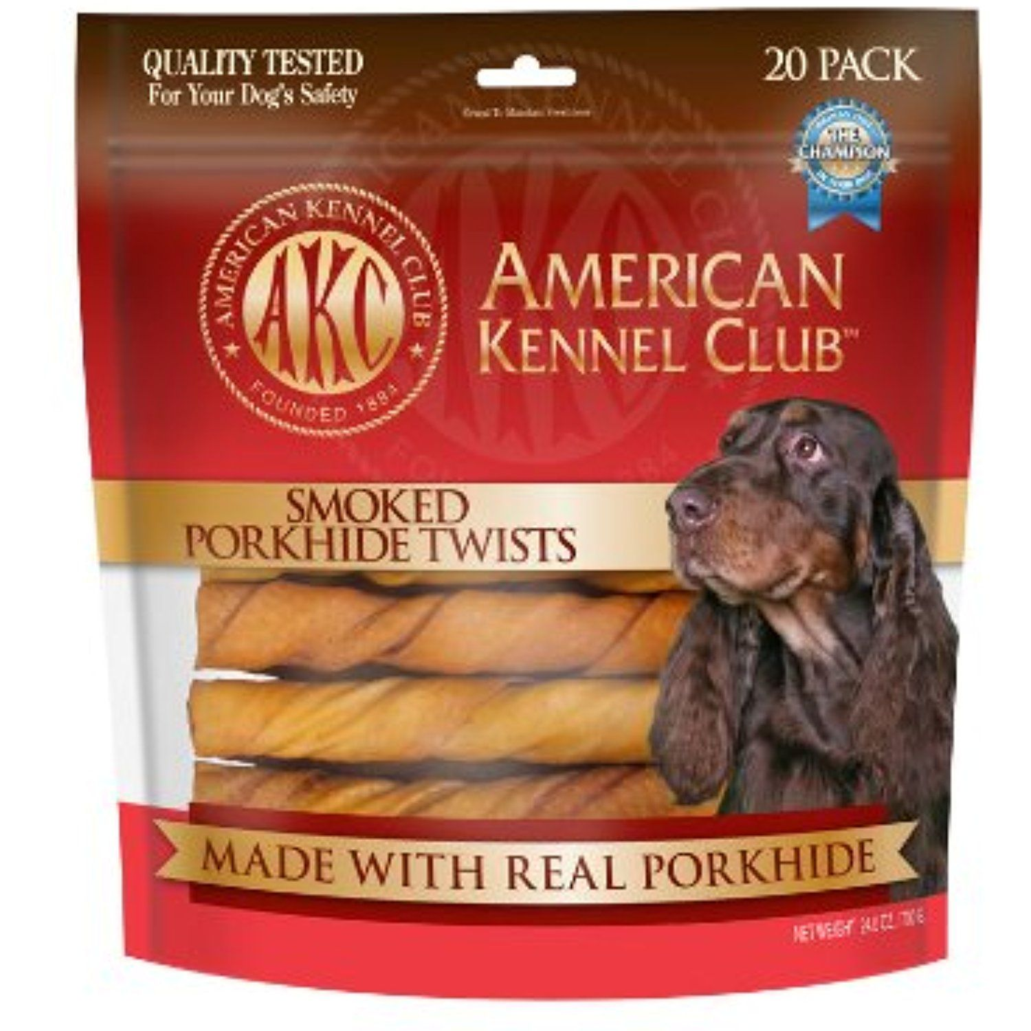 Akc Porkhide Twists Smoked 20 Pack Medium 6 Please Be