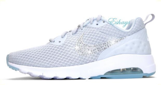 Light Grey Glitter Swoosh Nike Air Max Motion  253b8b6e9d
