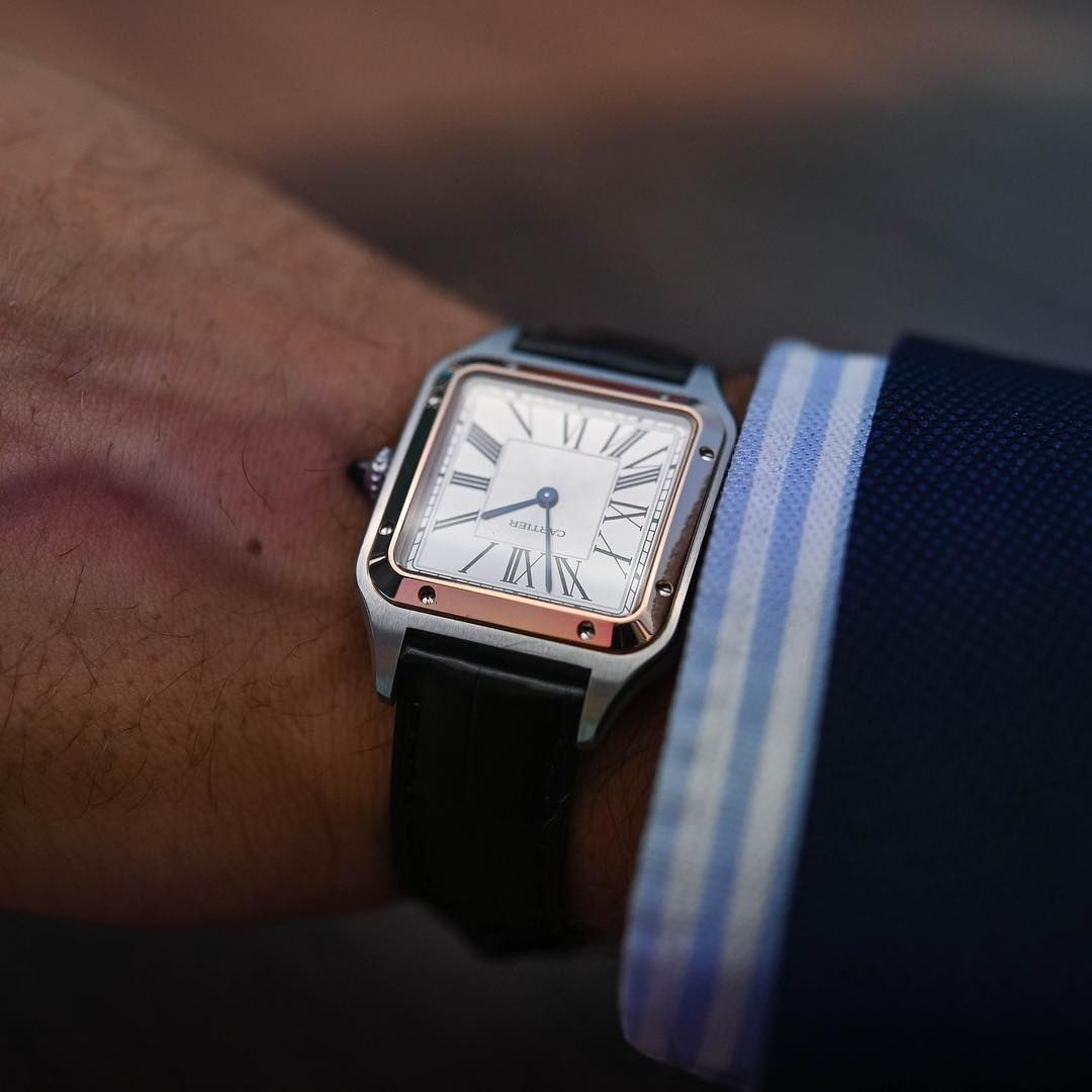 Andreas Weinas On Instagram Hand Modelling The New Cartier Santos Dumont In Steel Gold During Today S Presentati Cartier Santos Cartier Watches Mens Cartier