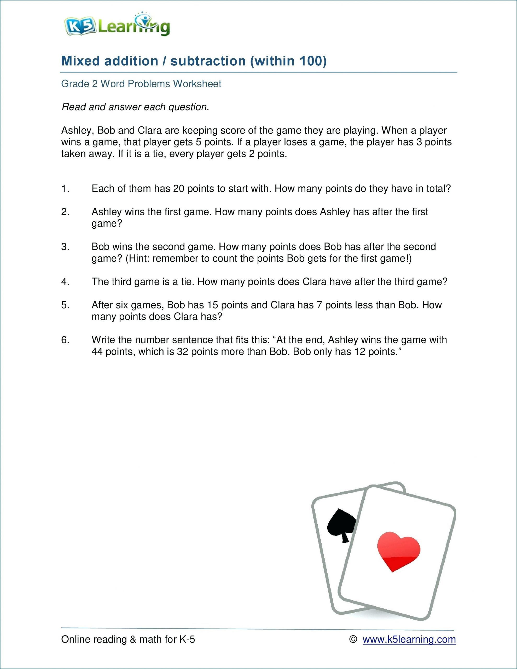 4 Free Math Worksheets Second Grade 2 Subtraction Subtract 3 Digit Numbers With Regrouping Ma In 2020 Math Word Problems Word Problem Worksheets Word Problems