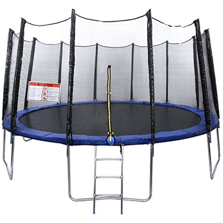 Ziema 12ft Outdoor Kids Trampolines With Enclosure Net Us Stock