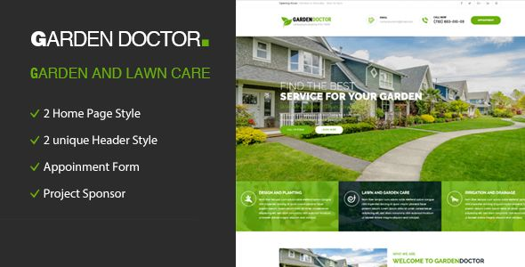 Cool Backyard Physician Gardening And Landscaping Html Template