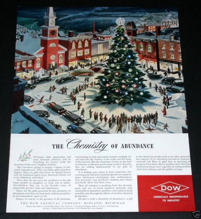 Old Dow Chemical Xmas Town Sqr 1939 With Images Christmas Advertising Christmas Ad Christmas Images