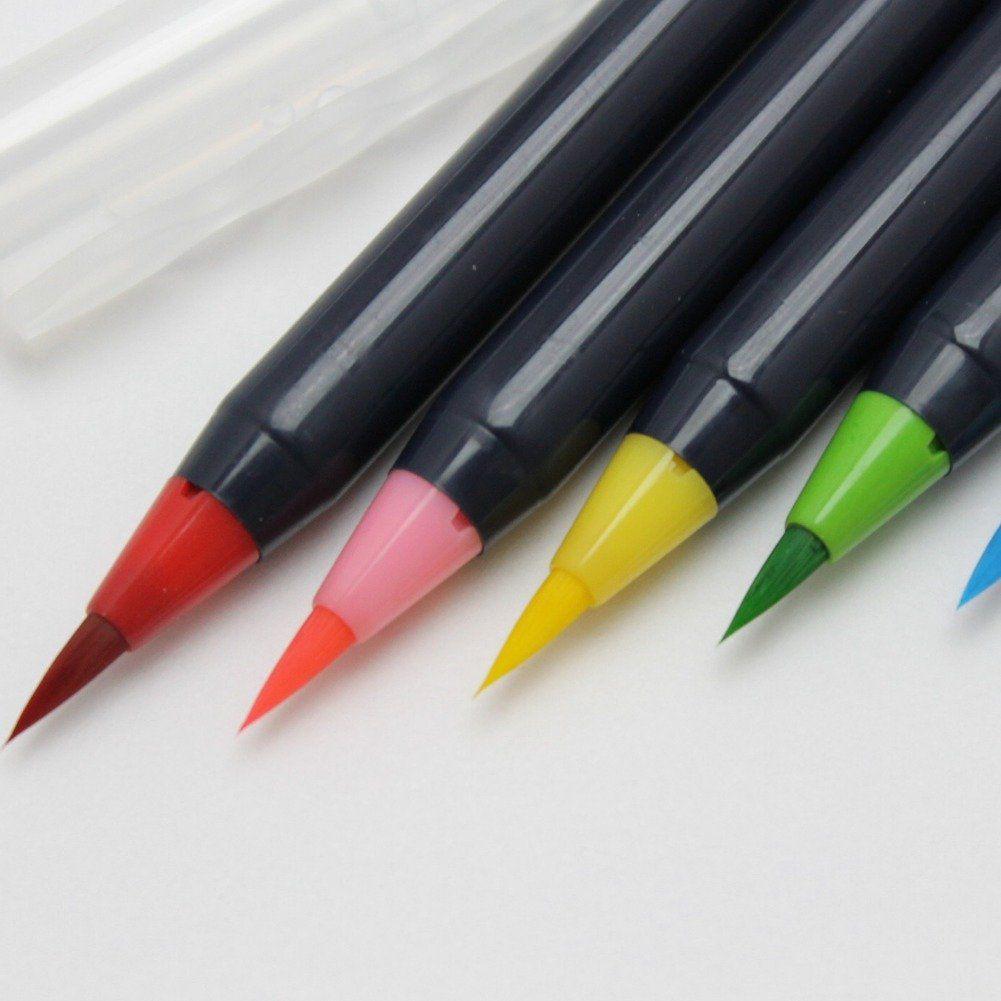 Amazon Com Akashiya Sai Watercolor Brush Pen 20 Color Set