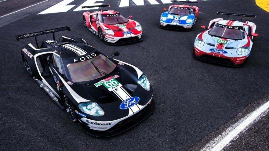 Ford Pays Homage To Le Mans With Celebration Liveries Fordgt Lemans Ford Gt Ford Gt Le Mans Le Mans