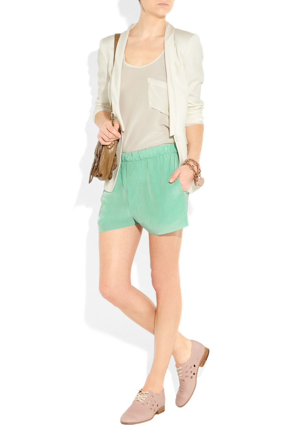Acne Bacall crinkled-crepe shorts