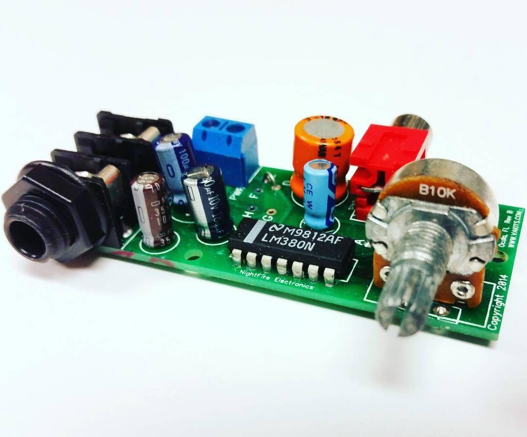 Lm380 Kit Headphone Audio Amplifier By Nightfire Electronics Llc Www Power Circuit Vakitscom Nightfireelectronics