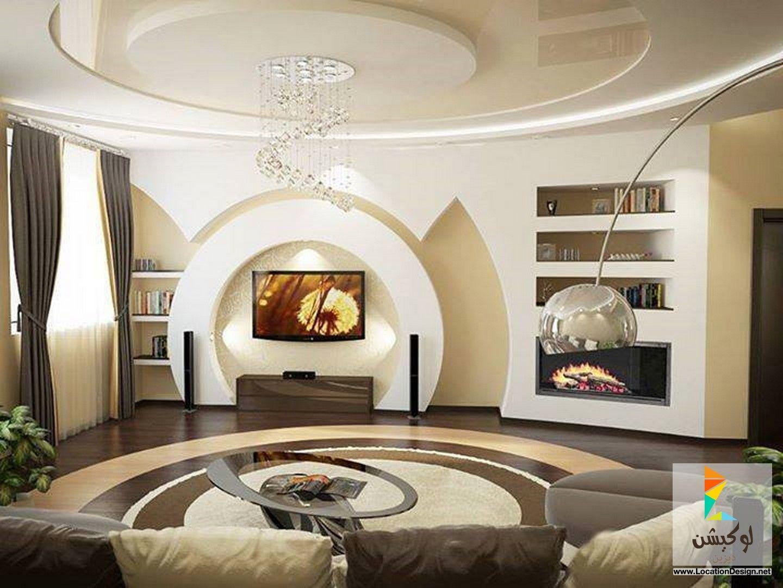 ديكور جبس غرف جلوس 2015 | living room | Pinterest