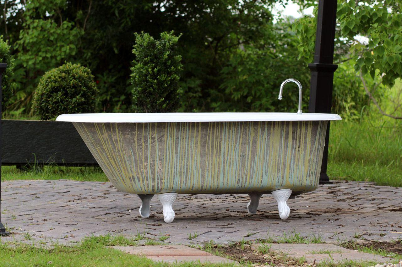 1924 Antique Refinished 5 Clawfoot Bathtub Crane Multi Color