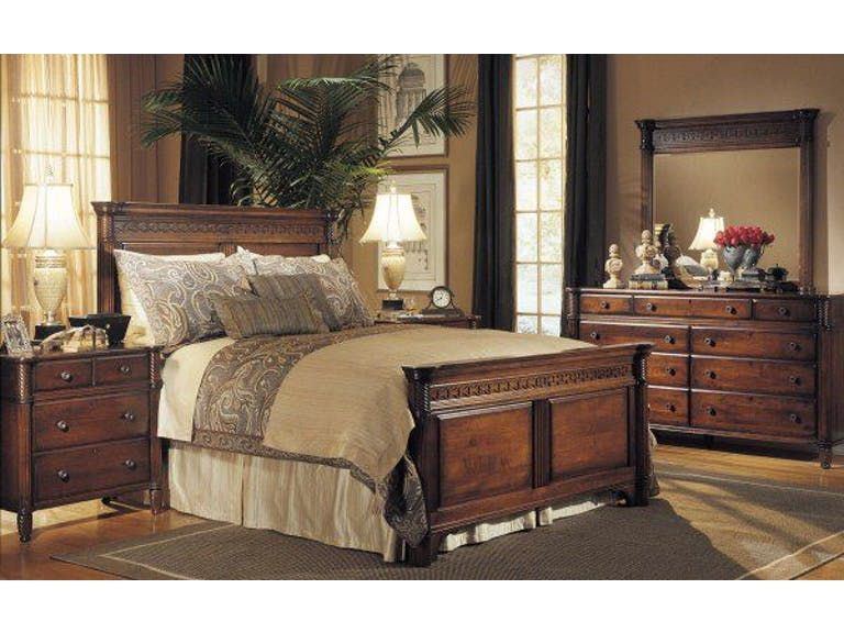 Durham Furniture Bedroom Queen Sleigh Bed 501 128 Eastern Santa Clara Ca
