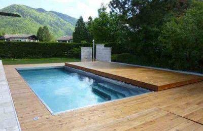 Schwimmbadabdeckung Garten swimming pool cover