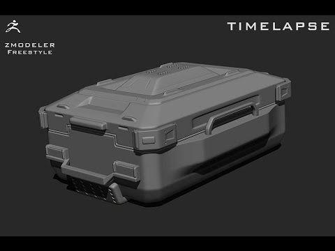TIMELAPSE ZMODELER WORKFLOW ZBRUSH 4R7 (day 2) - YouTube