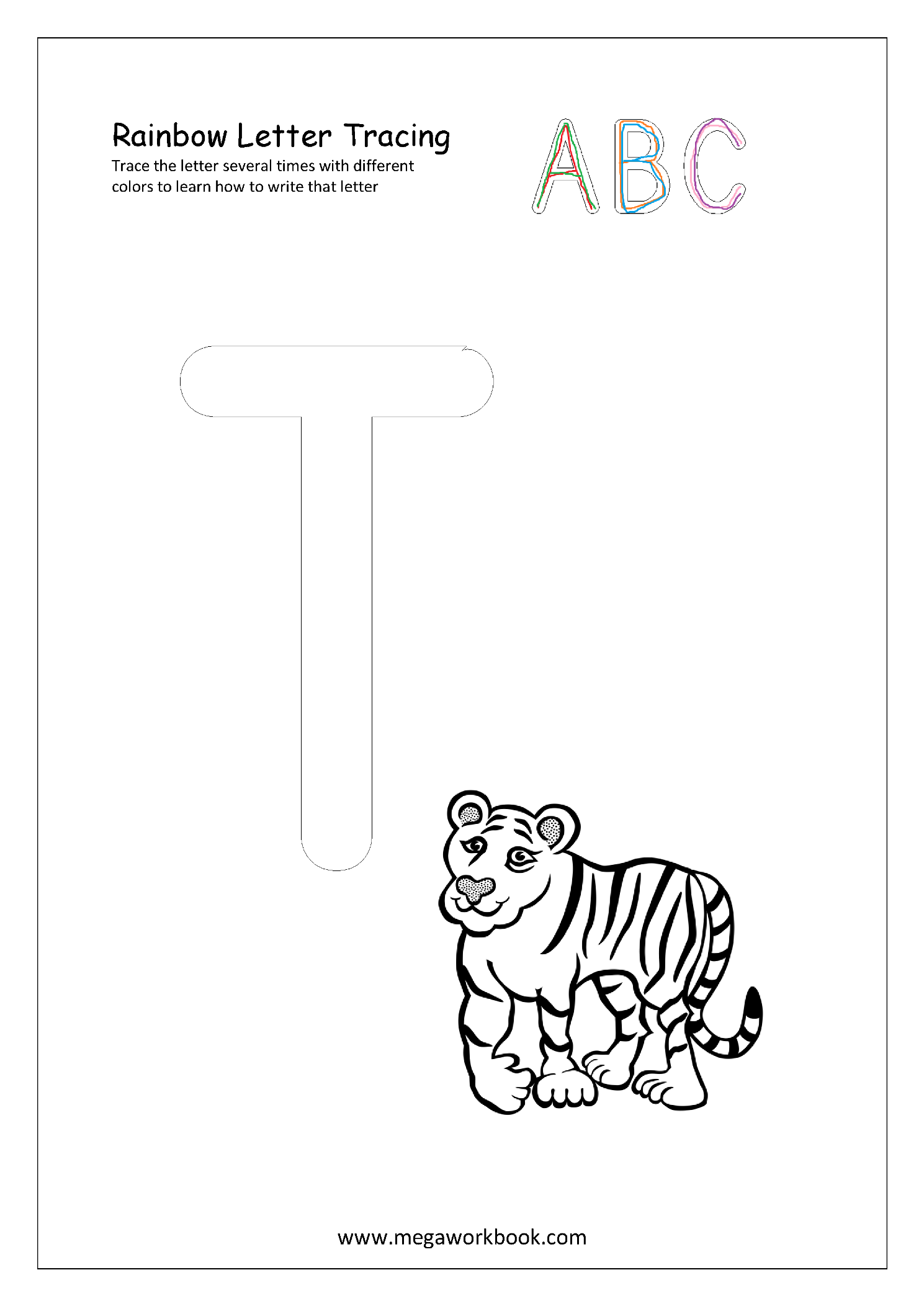 Rainbow Letter Tracing For Capital Letters Alphabet Formation Capital T Rainbow Writing Tracing Letters Alphabet Worksheets Preschool [ 2105 x 1489 Pixel ]