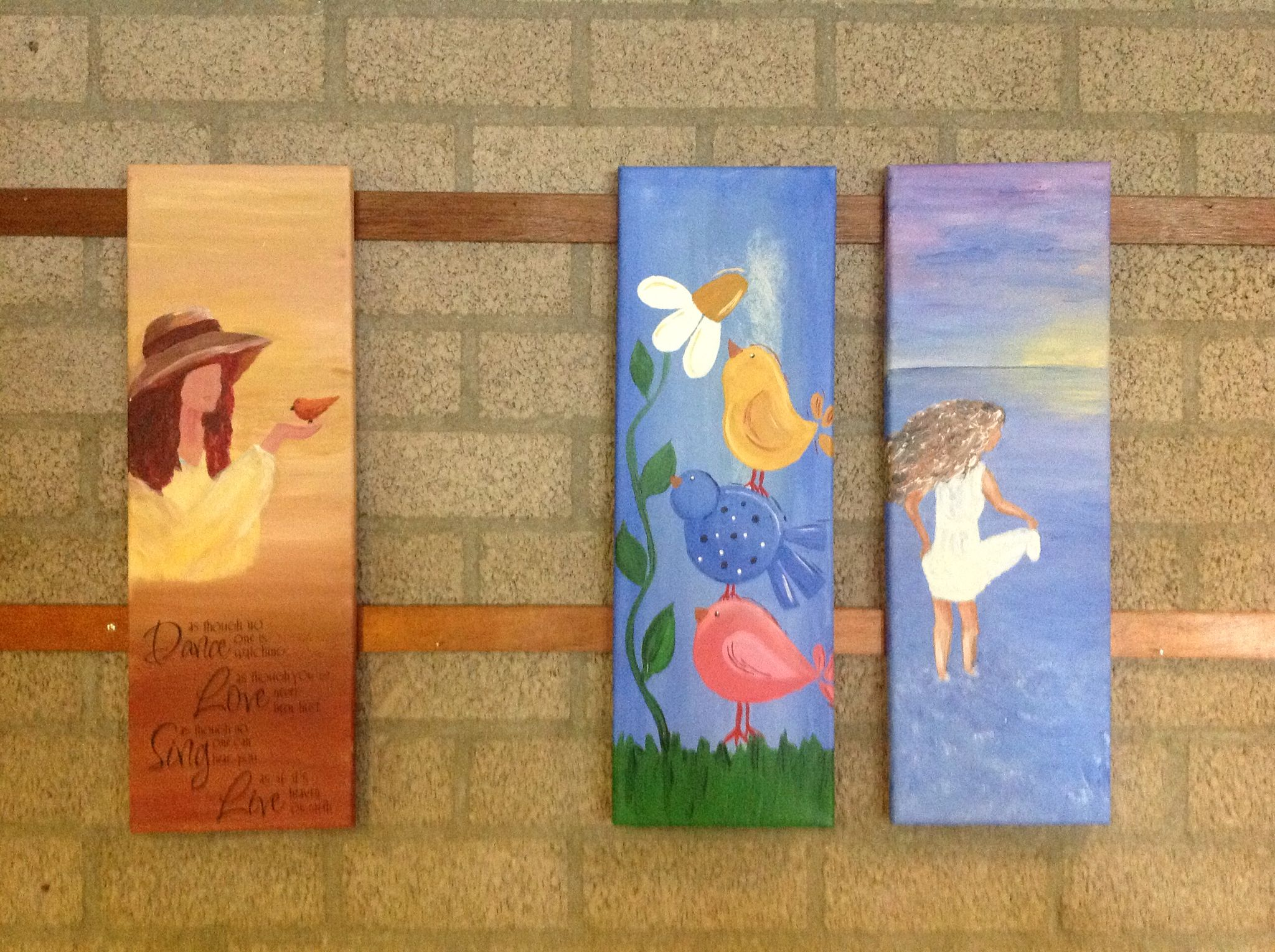 Mijn schilderijen tentoon gesteld tijdens open dag wijkgebouw