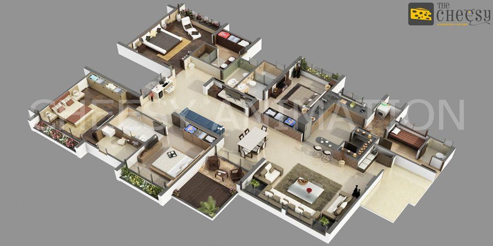 3D Character Animation, Cartoon video maker Services Pricee 3d - new interior blueprint maker