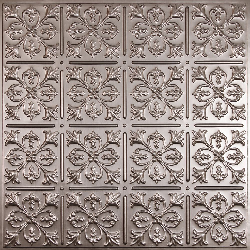 Fleur de lis faux tin ceiling tile 2 feet x 2 feet lay in or glue tin ceiling tile for the front of the dishwasher ceilume fleur de lis faux tin ceiling tile 2 feet x 2 feet lay in or glue up dailygadgetfo Images