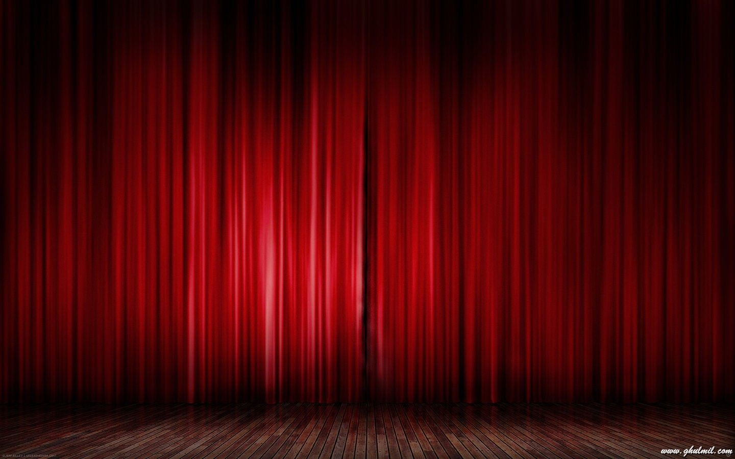 76650 Superb Beautiful Stage Red Curtain Desktop Wallpaper Red