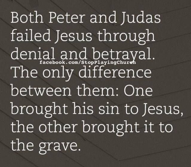 Both Peter and Jesus failed Jesus through denial and betrayal ...