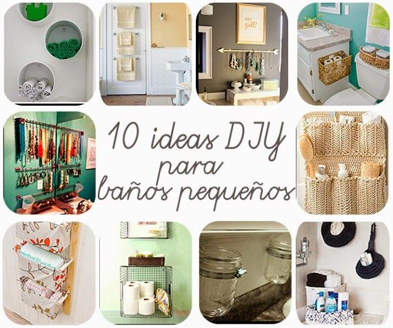 10 ideas diy para ba os peque os decoration lofts and room - Ideas para decorar banos pequenos ...