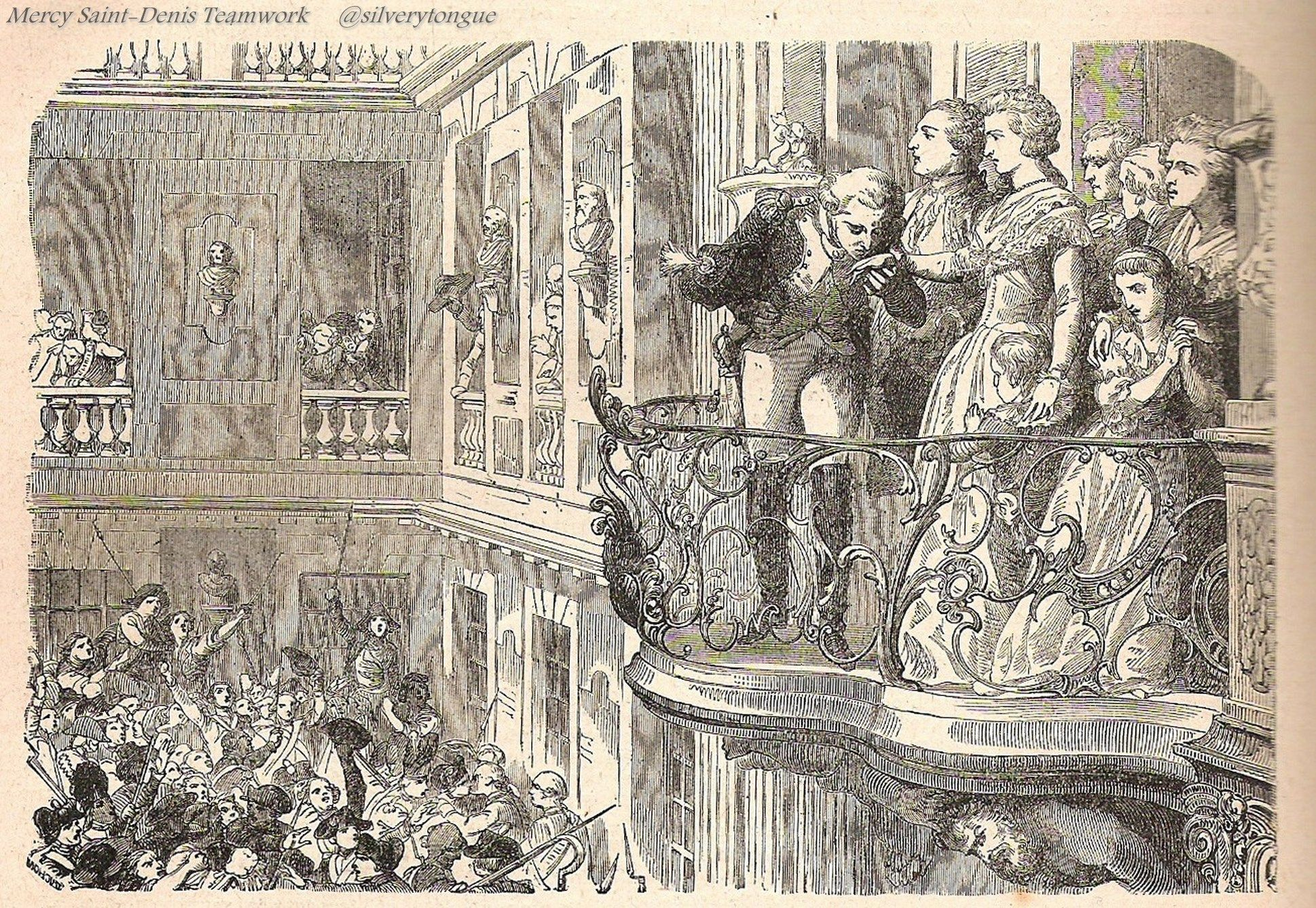 La Fayette and Marie Antoinette 6th october 1789.