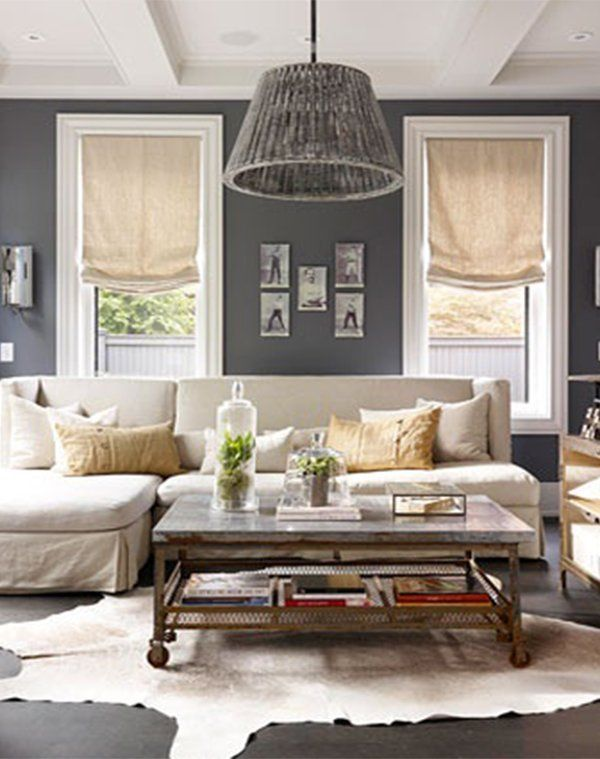 curtain ideas for small living room design  cabin  Living room decor, Living room grey, Chic