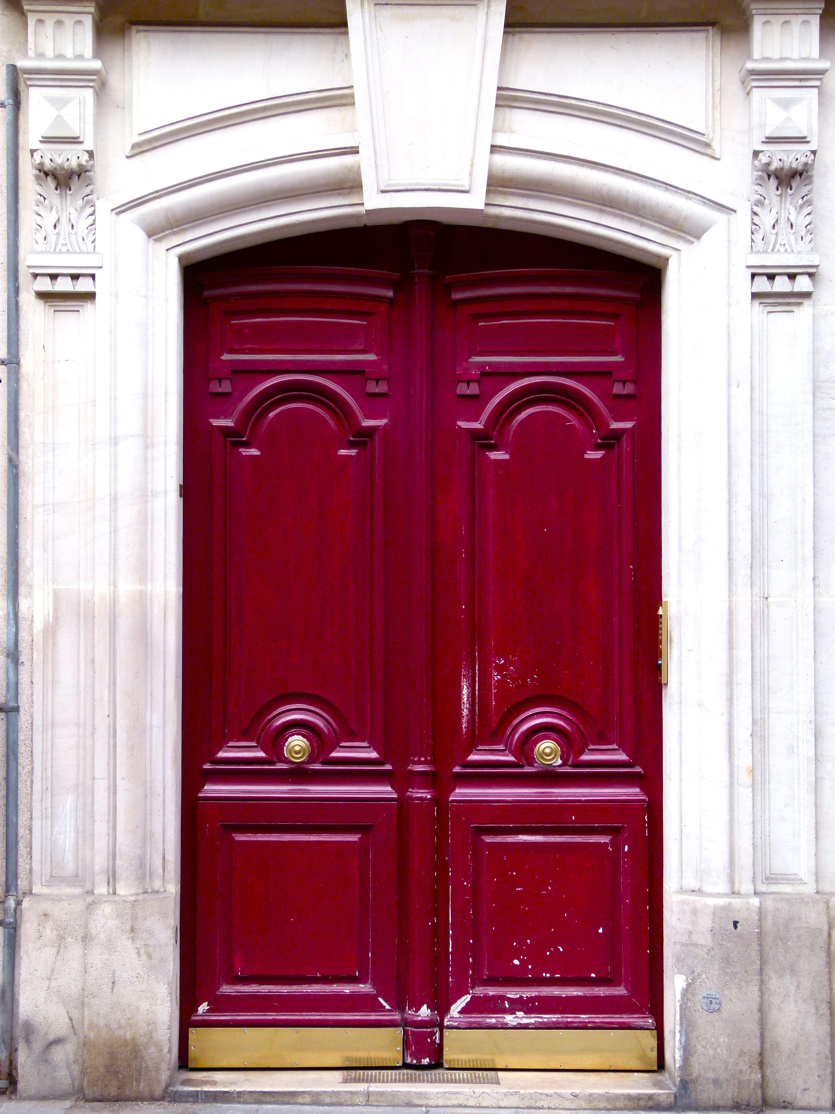 Maroon Red Door Front Door Colors Paris Decor