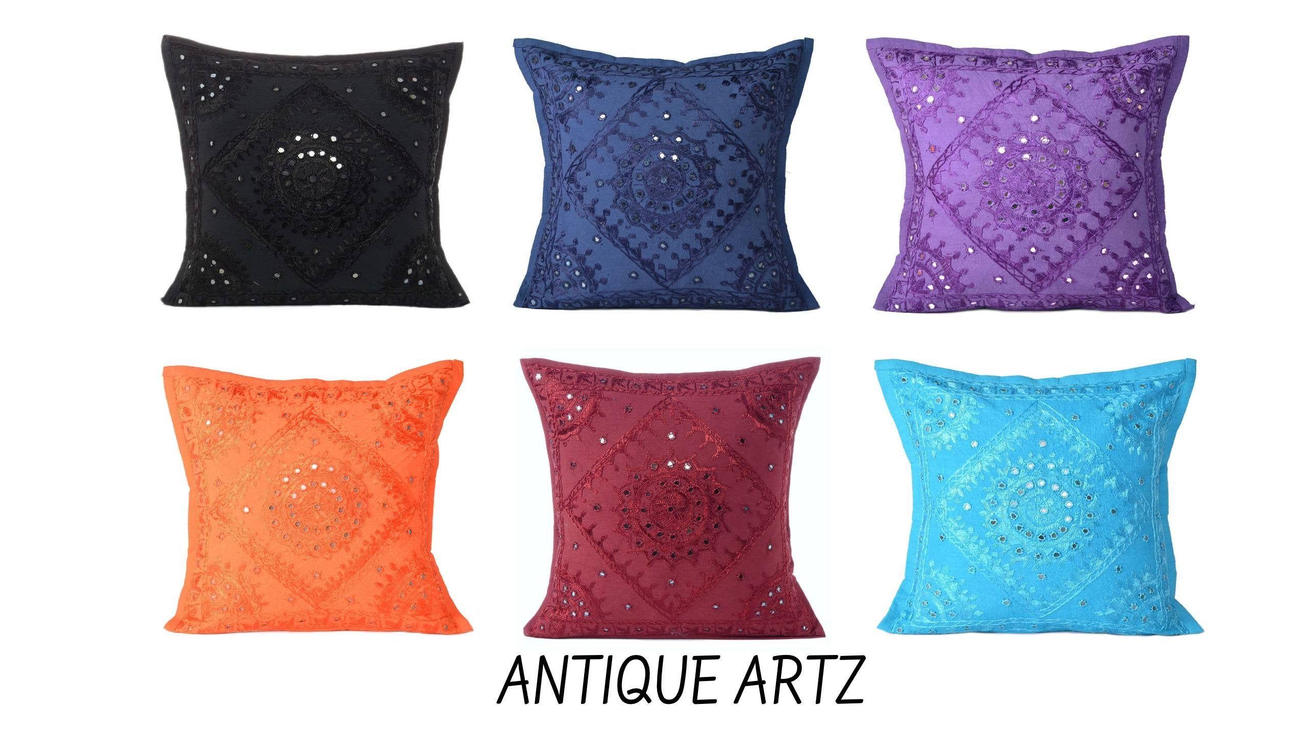 Plain Solid Colour Cushion Cover Cotton Covers Throw Pillow  Sofa Case Decor New