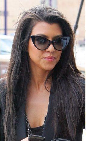 Kourtney Kardashian Cateye Sunglasses Fashion Cat Eye